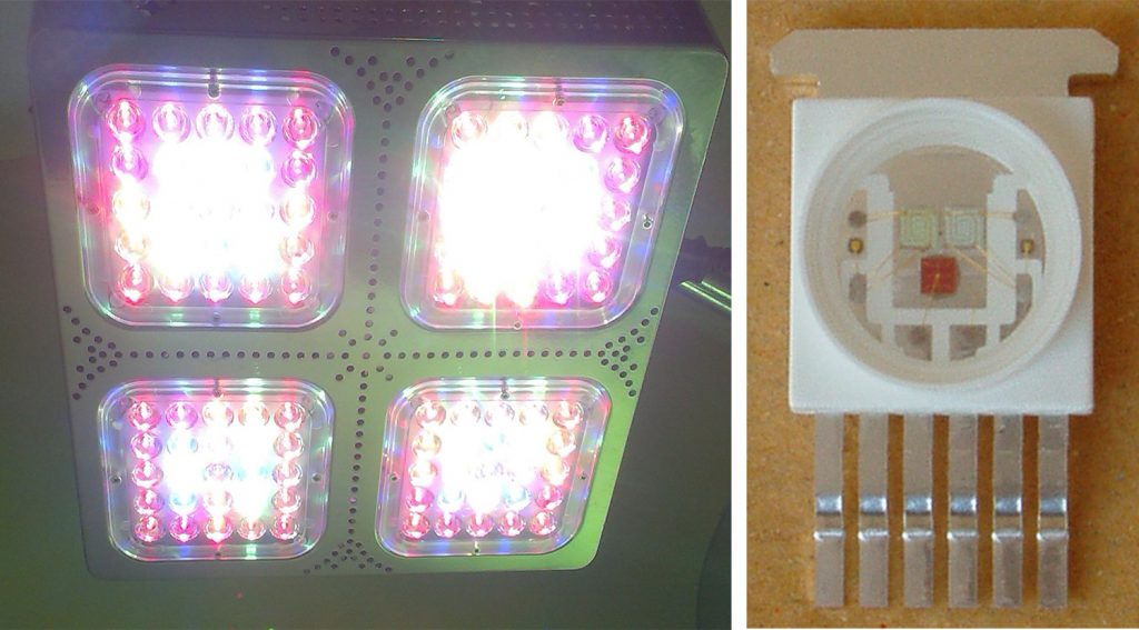 LED Growing lights Moonstone_RGB_LED_12_single